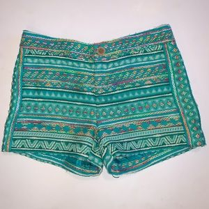 Anthropologie Embroidered Shorts, Sz 0